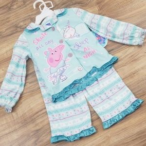 Peppa Pig🌸 2T flannel pajamas